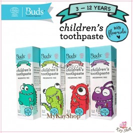 Buds Children's Toothpaste with Fluoride (3-12 Years old) - 50ml