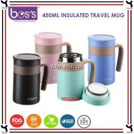 BOS'S 450ml Stainless Steel Insulated Travel Mug