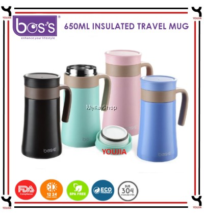 BOS'S 650ml Stainless Steel Insulated Travel Mug