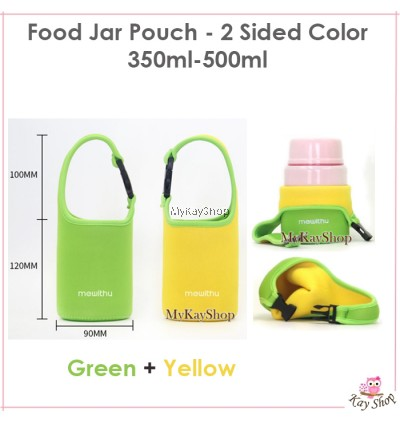 Food Jar Pouch 2 Sided colours ( For 350ml-750ml Food Jar)