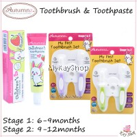 Autumnz My First Toothbrush Set (Stage 1 & 2) Baby Toothbrush / Children's Toothpaste